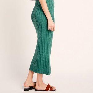NWT Free People Topaz skirt in Sea Green